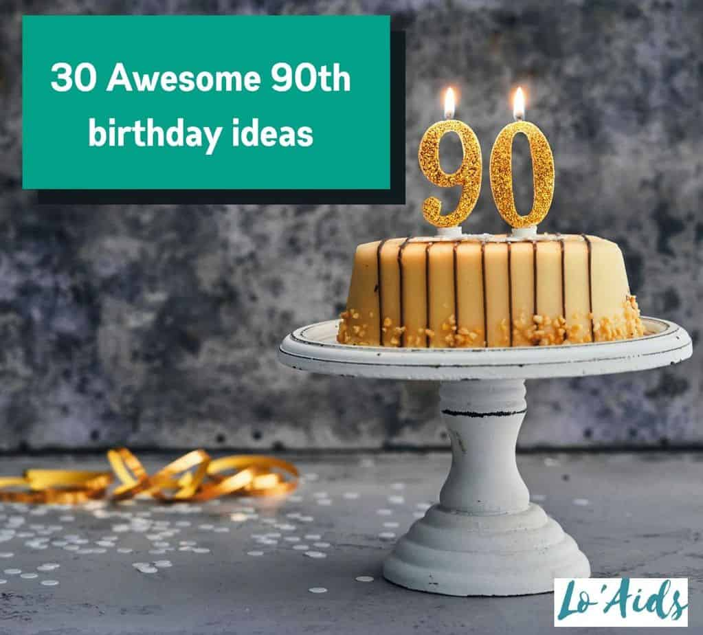 caramel cake with 90th candle for 90th birthday ideas