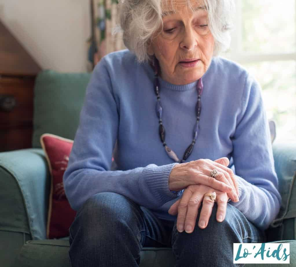 senior lady with Parkinson's disease