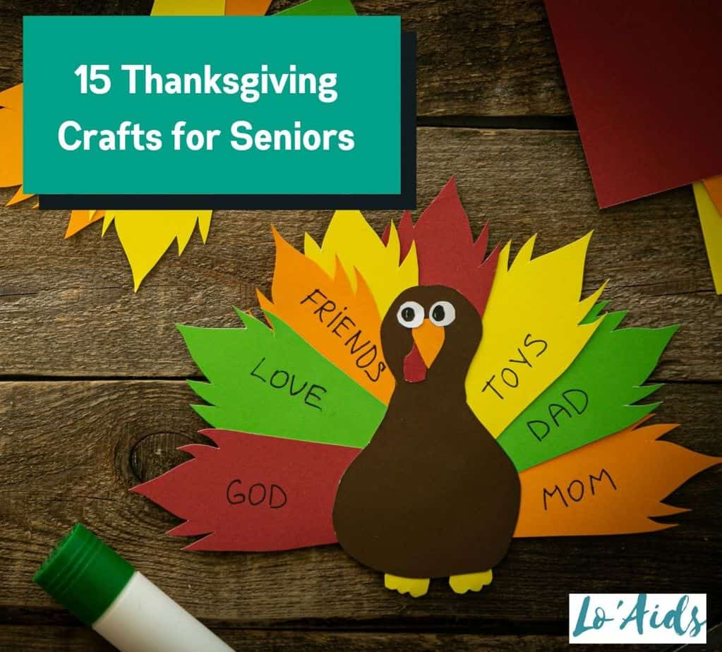 easy Turkey design for Thanksgiving crafts for seniors