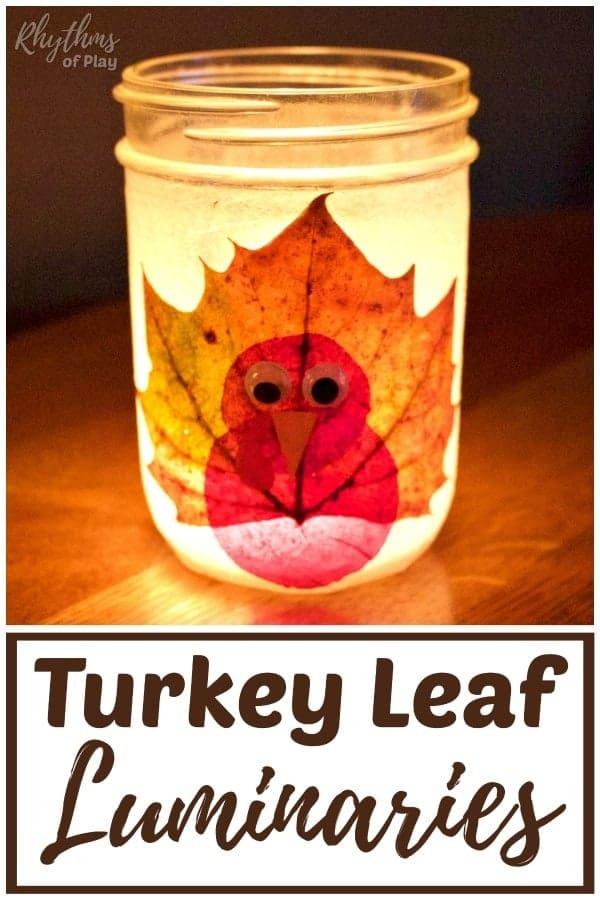 turkey leaf lanterns