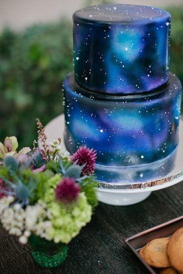astronomy designed cake