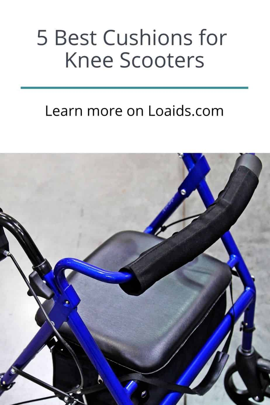knee walker with comfortable cushion