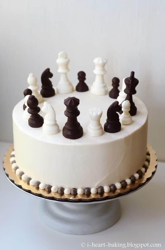 Chess 90th birthday cake ideas
