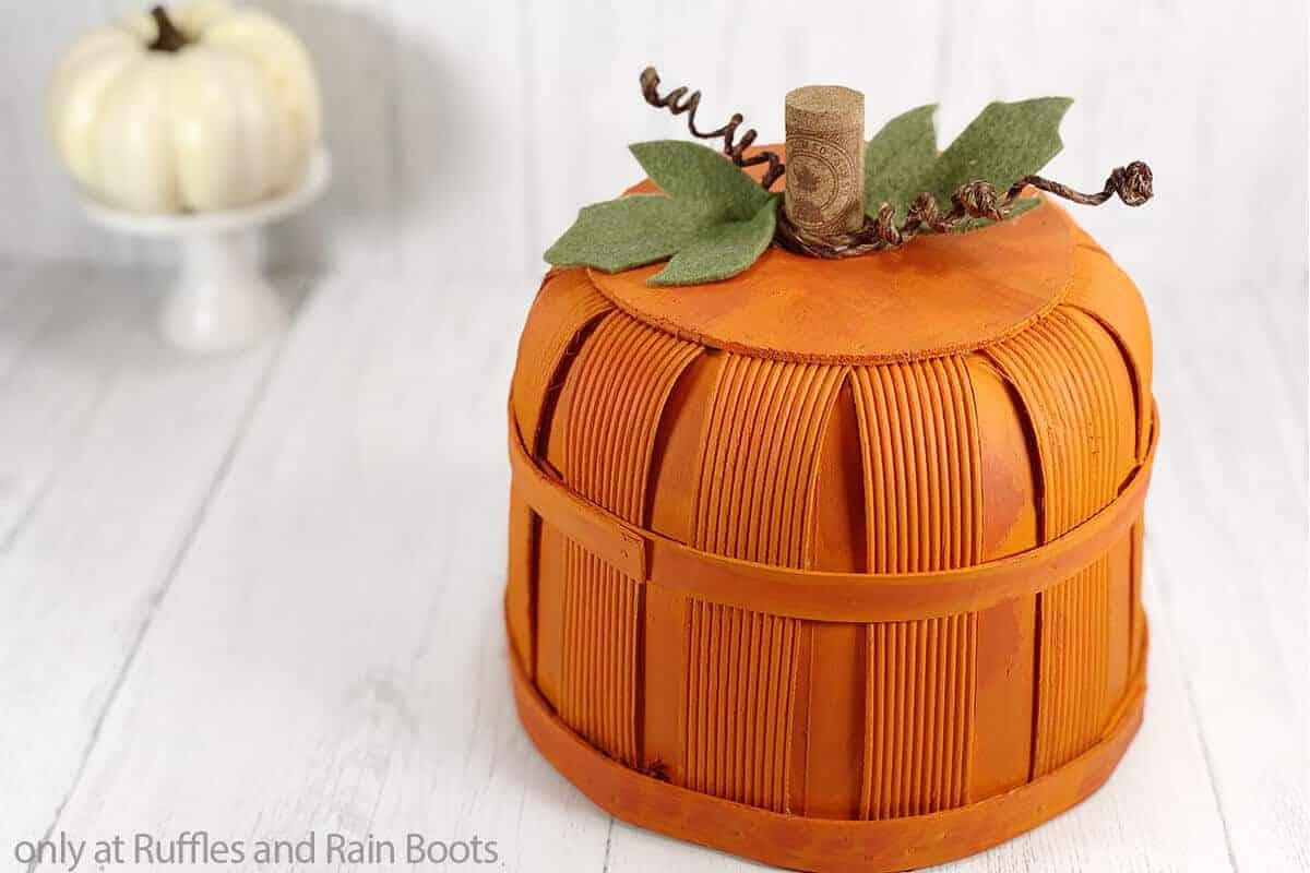 dollar tree pumpkin basket