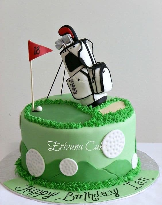 golf designed cake
