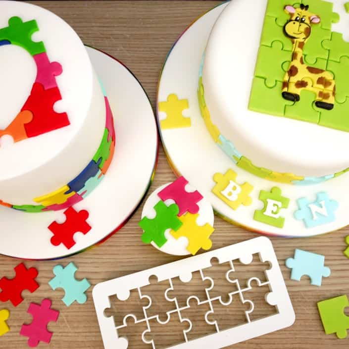 jigsaw puzzle cake