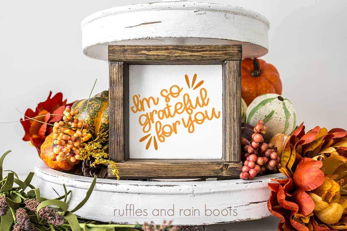 I'm so grateful for you fall tray