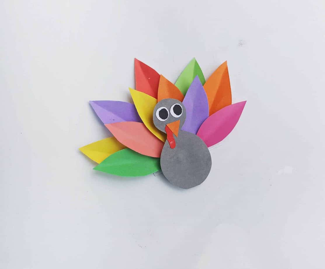 rainbow thanksgiving turkey