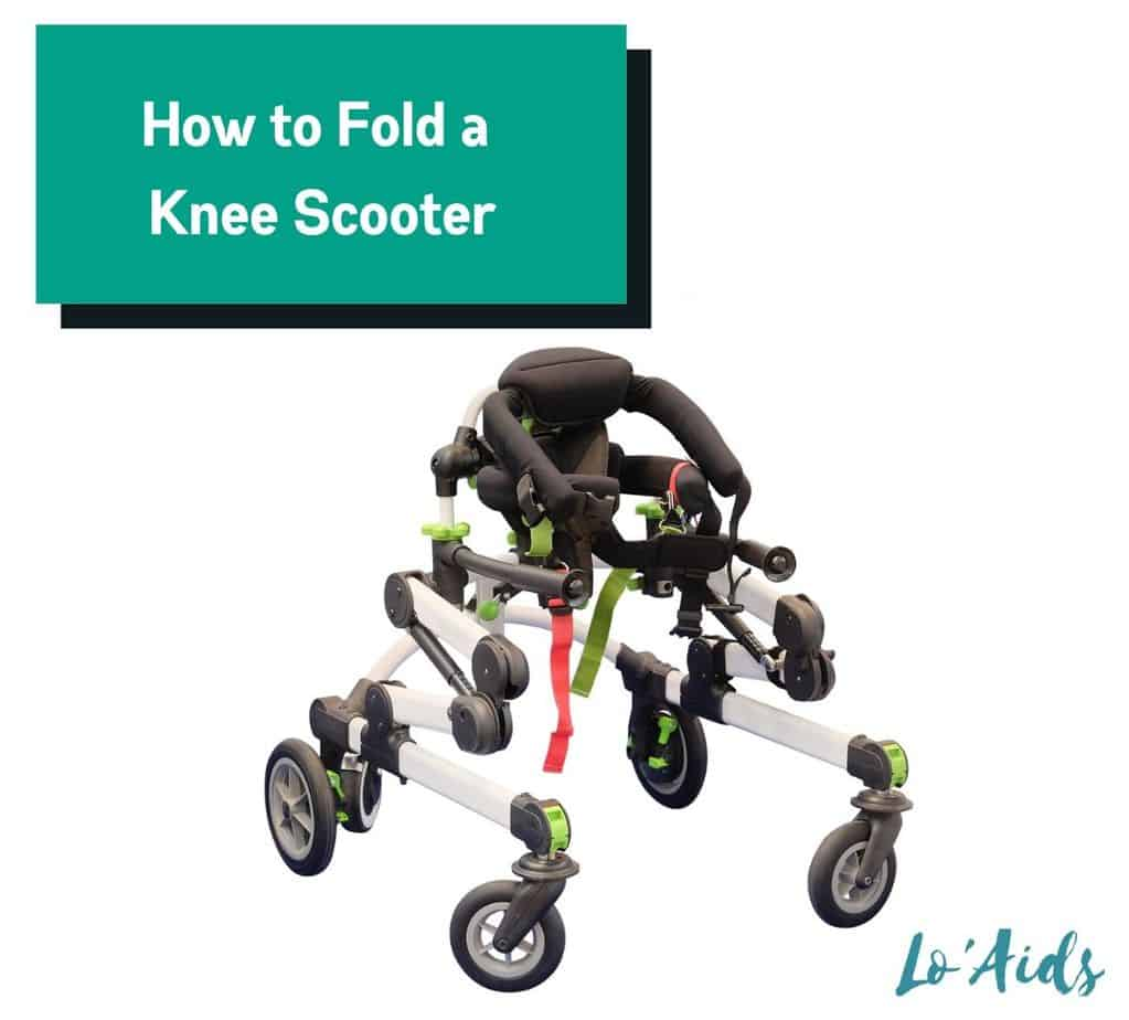 folder knee scooter (how to fold a knee scooter properly)