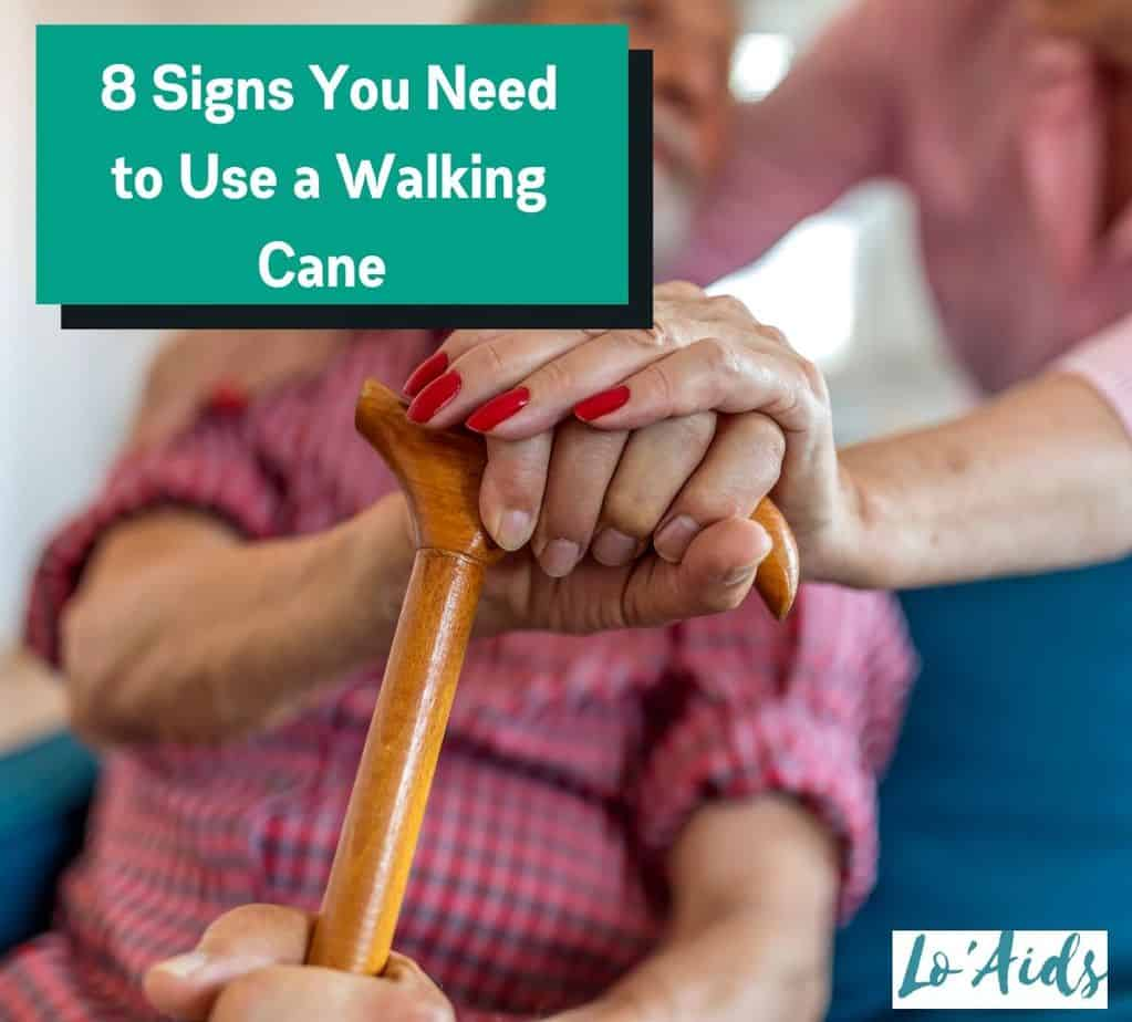 senior holding a walking cane (when do you know it is time for a walking cane)
