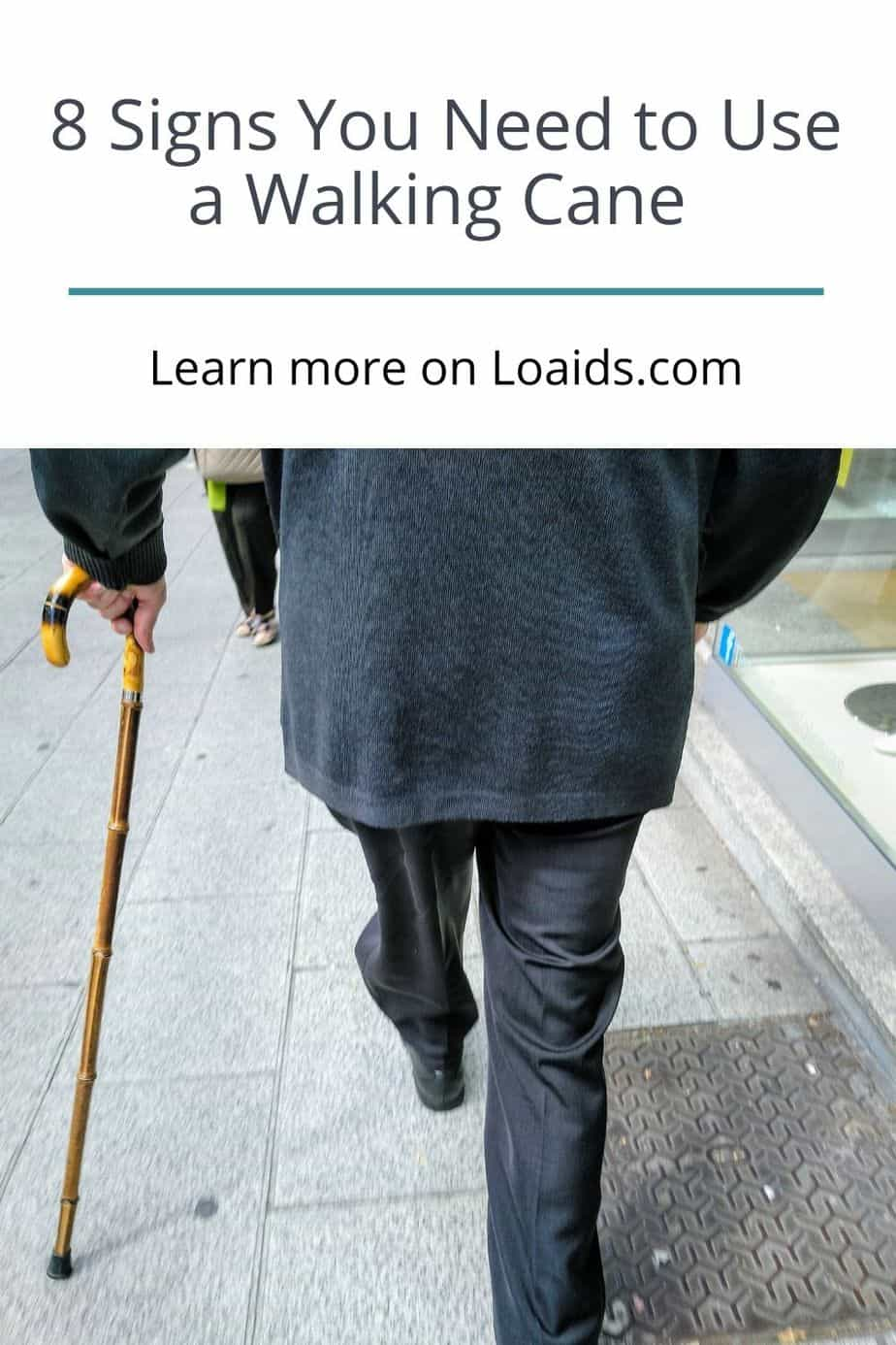 senior walking while using his cane